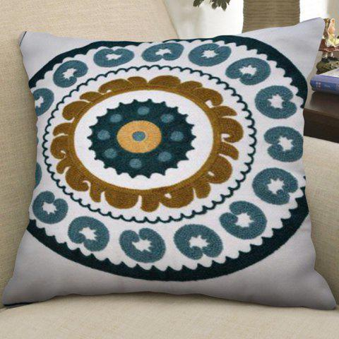 Cotton Embroidered Single-sided Pillowcase - multicolor