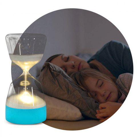 Timing Hourglass Sleeping Light Gift Colorful LED Atmosphere Silicone Night Lamp - DEEP SKY BLUE