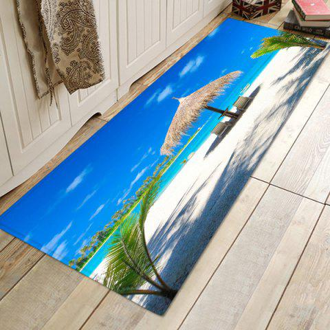 Blue Sky Sea Floor Mat Carpet - OCEAN BLUE W24 X L71 INCH
