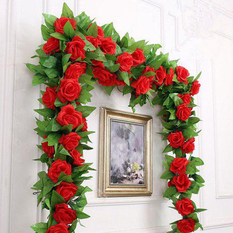 Simulation Home Decoration Flower Vine 2.4m - RED