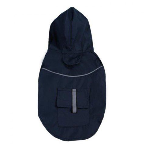 Summer Dog Double Layer Windproof Hooded Raincoat - MIDNIGHT BLUE L