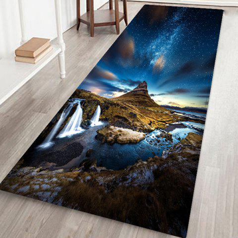Wild Beautiful Starry Floor Mat Carpet - MIDNIGHT BLUE W24 X L71 INCH