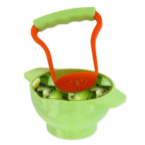 Onbi baby Non-slip Food Grinding Bowl Supplement Tool - GREEN