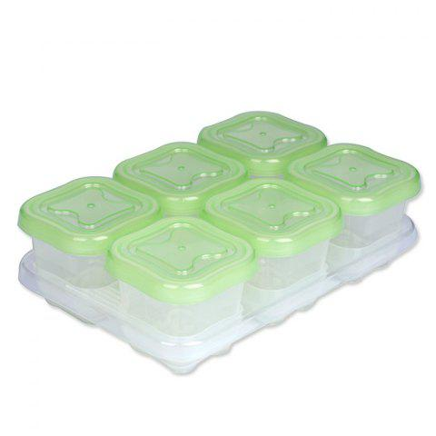 Onbi baby Food Freezer Box Crisper 6pcs - GREEN