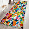 Colorful Tile Background Mat Carpet - multicolor A W16 X L47 INCH