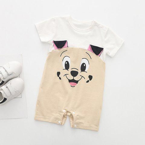 Baby Cute Puppy Cotton Romper - KHAKI 12-18MONTH(73)