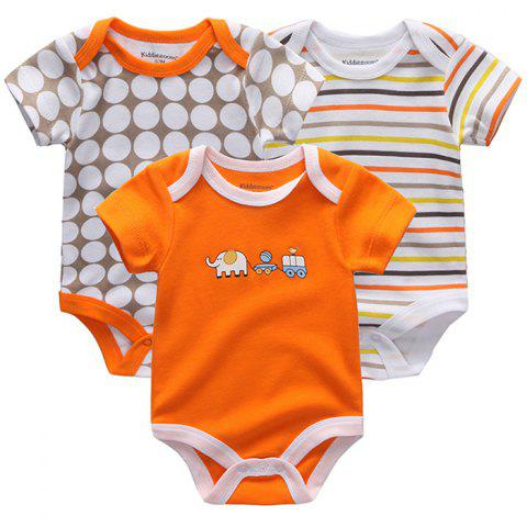 Fetchmous Baby Cartoon Fashion Jumpsuit Romper 3pcs - multicolor E 9 - 12 MONTHS