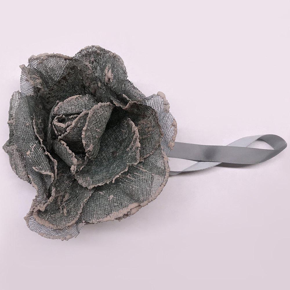 Flower Shape Magnetic Tieback Holdback for Voile Net Curtain DIY Accessory Tie String - DARK GRAY