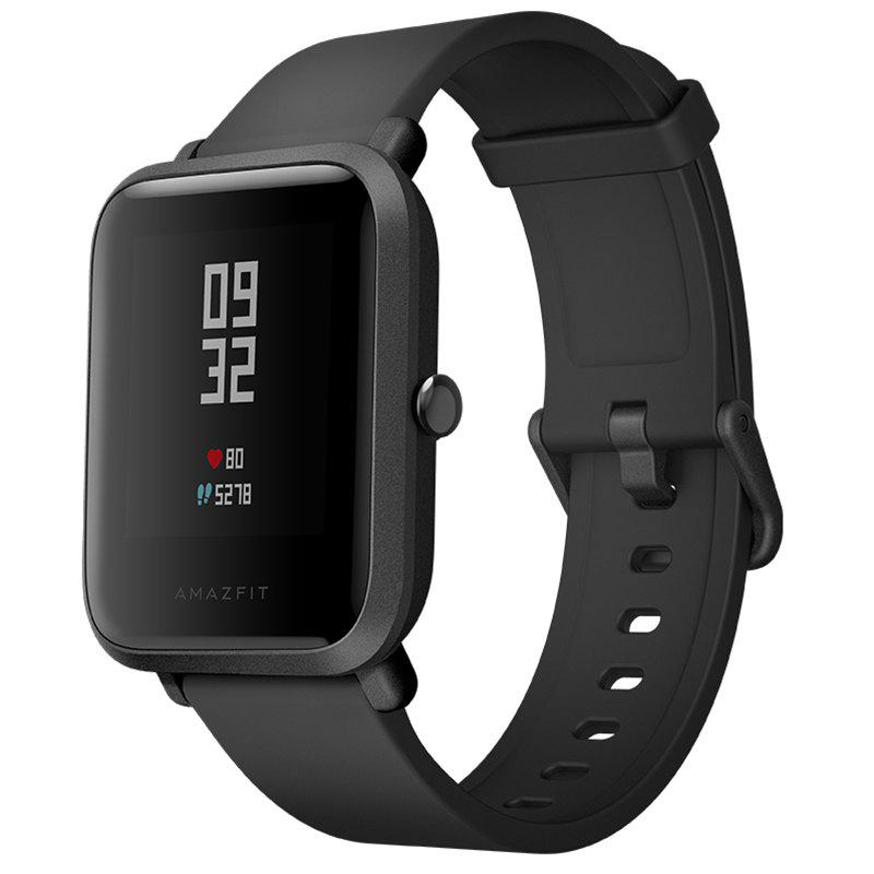 AMAZFIT A1608 Smartwatch Global Version with Corning Gorilla Glass Screen Heart Rate / Sleep Monitor Geomagnetic Sensor GPS - BLACK