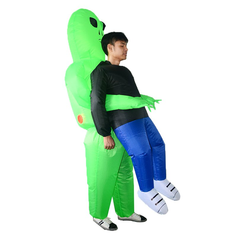 Alien Inflatables Halloween Bar Atmosphere Stage Clothes for Adult - GREEN