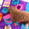 Stitching Section Sniffing Dog Pad Pet Training Blanket - multicolor