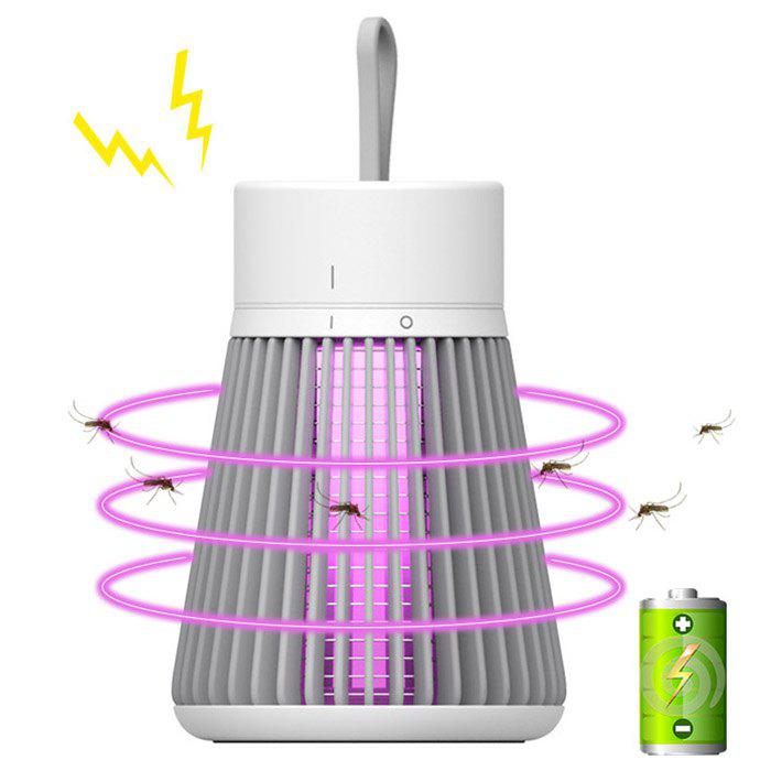 Brelong YUU002 USB Rechargeable Mosquito Repellent Lamp LED UV Night Light for Bedroom Kitchen Terrace Outdoor - GRAY