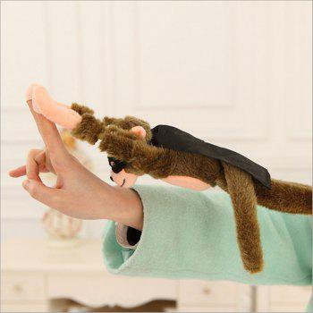 Flying Screaming Plush Monkey Slingshot Toy for Children - COLORMIX