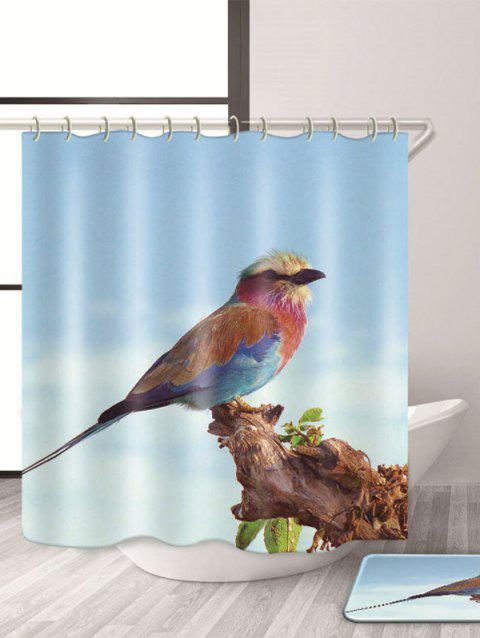 Waterproof Mouldproof Bird Print Shower Curtain