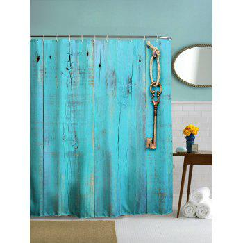 Polyester Shower Curtain with Hooks For Bathroom