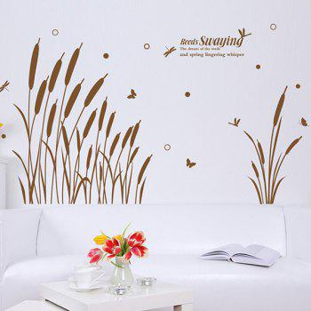 Reed Swaying Pattern Removable Waterproof Wall Sticker