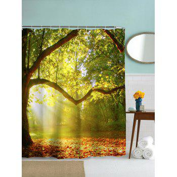 Waterproof Mouldproof Big Tree Pattern Shower Curtain