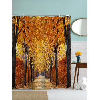 Autumn Leaves Print Waterproof Mildew Resistant Fabric Shower Curtain