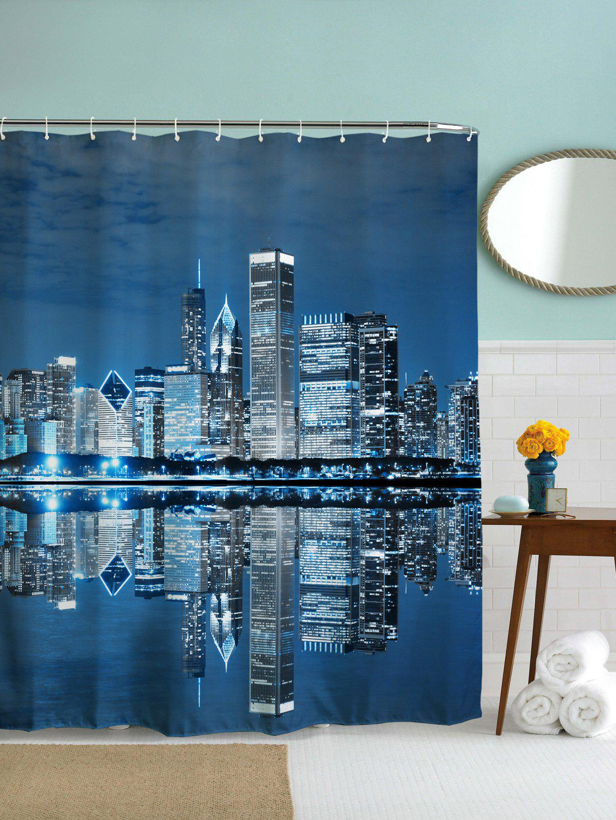 Night of City Print Waterproof Polyester Shower Curtain