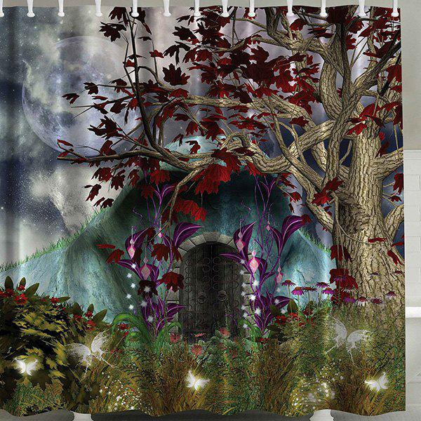 Tree Print Waterproof Polyester Bath Shower Curtain - COLORMIX 150CM*180CM