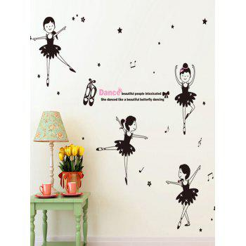 Dancing Girls Bedroom Background Wall Sticker
