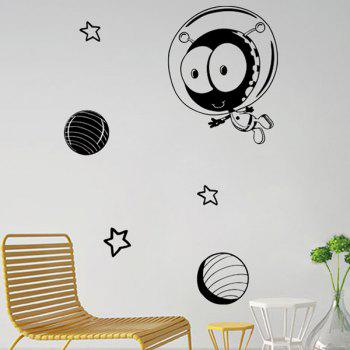 Cartoon Star Space Pattern Removable Wall Stickers