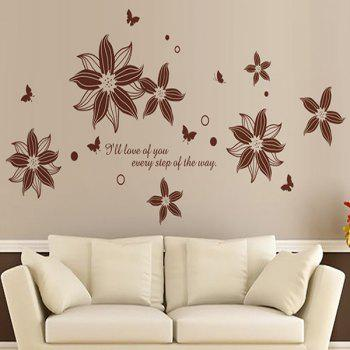 DIY Flower Removable Wall Stickers For Living Room