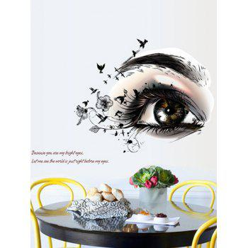 Artistic Eye Design Removable Wall Stickers