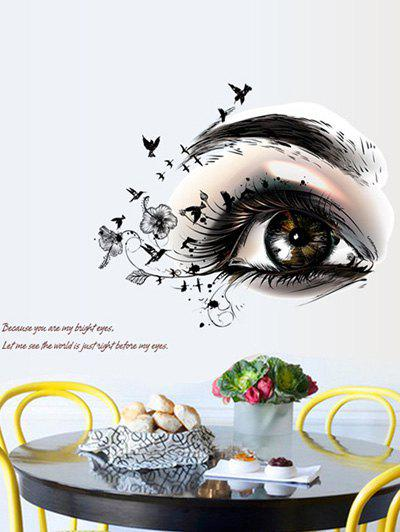 Artistic Eye Design Removable Wall Stickers artistic eye design removable personalised vinyl wall stickers