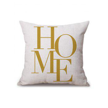 Linen Home Word Pillow Case