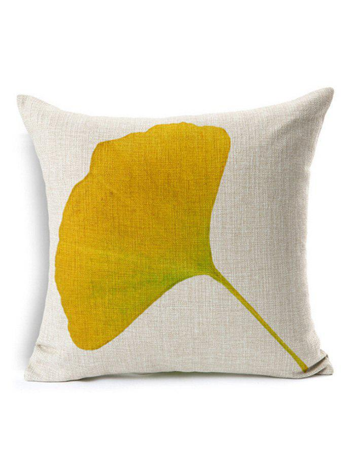 Gingko Leaf Throw Pillow Case Cover handpainted birds and leaf branch printed pillow case