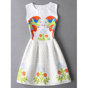 Flower Pattern Mini Jacquard Princess Dress
