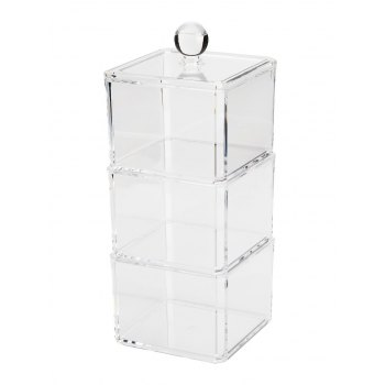 Maquillage de bureau Stockage amovible Maquillage Organizer - Transparent