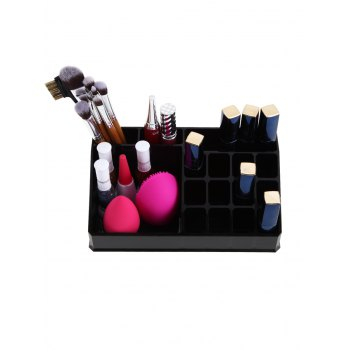 Desktop Cosmetic Storage Vanity Organizer - BLACK