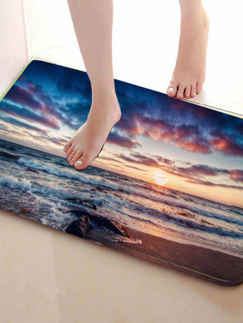 Sunrise Print Home Decor Caroset Skidproof Rug - COLORMIX