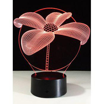 3D Flower Shape LED Table Decor Color Change Night Light