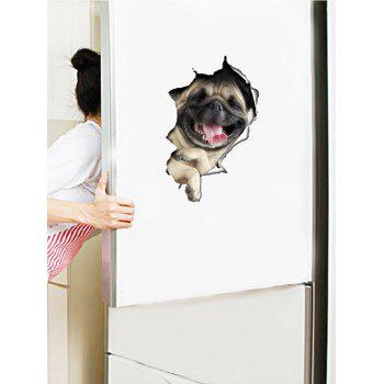 Waterproof Bulldog Animal Wall Art Sticker