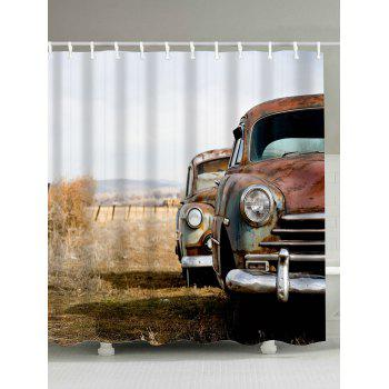 Buy Old Car Print Waterproof Mildewproof Shower Curtain COLORMIX