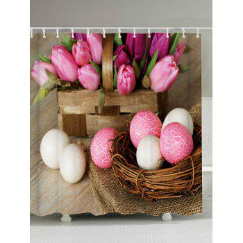 Happy Easter Shower Curtain with 12Pcs Hooks