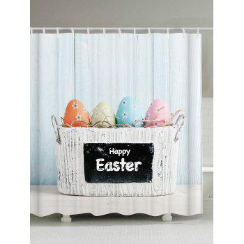 Easter Decoration Waterproof Shower Curtain