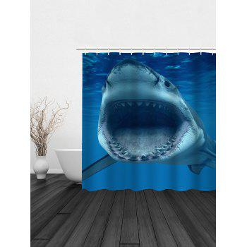 Sea Shark Water Resistant Bath Curtain - DEEP BLUE 180*200CM
