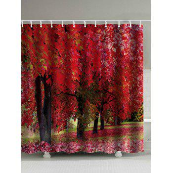 Tree Landscape Print Shower Curtain with Hooks