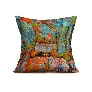 Natural Bricks Printing Throw Pillowcase