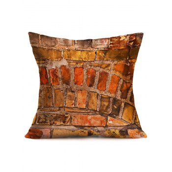 Natural Brick Wall Cotton Cloth Pillowcase