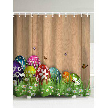 Easter Colorul Eggs Mouldproof Shower Curtain