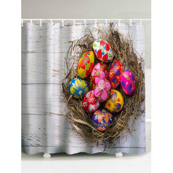 Easter Eggs Print Water Resistant Shower Curtain