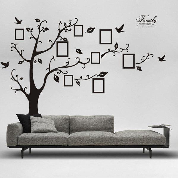 DIY Photo Tree Adhesive Wall Stickers diy photo frame tree home decals wall stickers