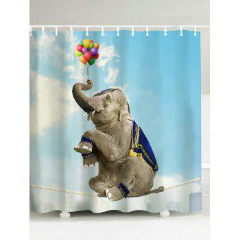 Elephant Water Resistant Shower Curtain