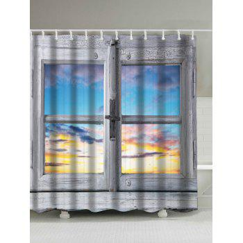 Window Sunset Screen Waterproof Shower Curtain