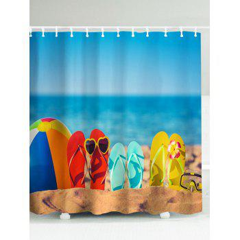 Beach Flip Flops Waterproof Eco-Friendly Shower Curtain